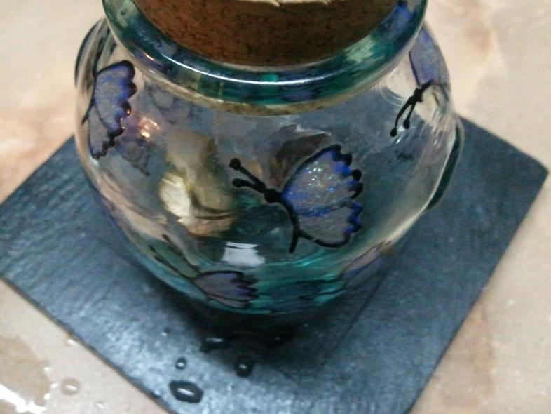 A tiny coin jar.