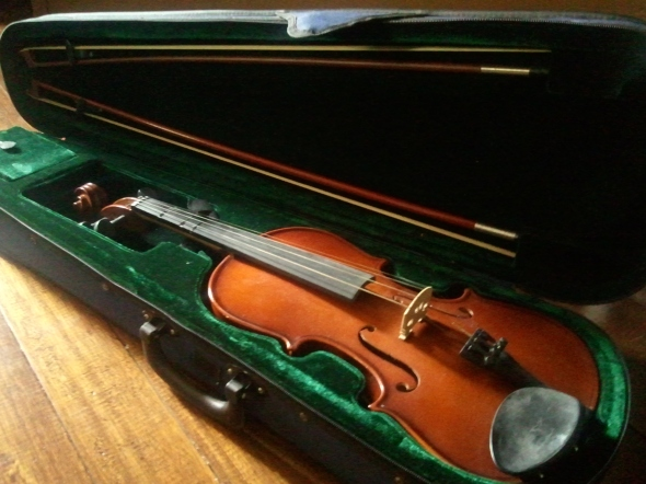 My 10-year old 3/4-size violin.