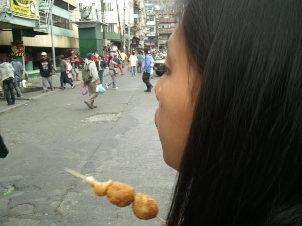 """Tinudok"", a Philippine street food."