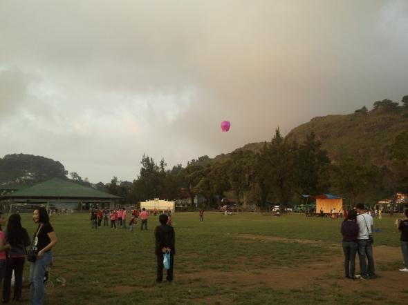 Sky lantern trial.