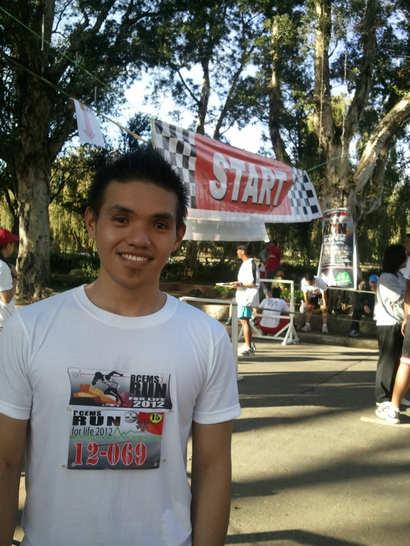 Participated and finished in a run organized by the Baguio City Emergency Medical Services. [Photo taken by Celeste Patacsil.]
