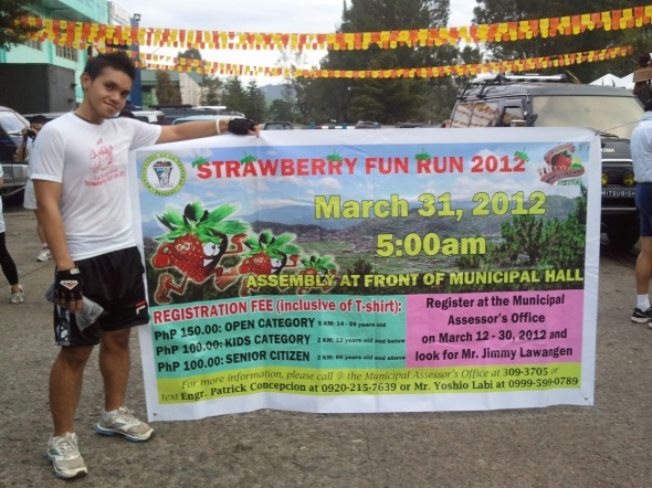Participated and finished in another run. :) [Photo taken by Michelle Mendoza.]