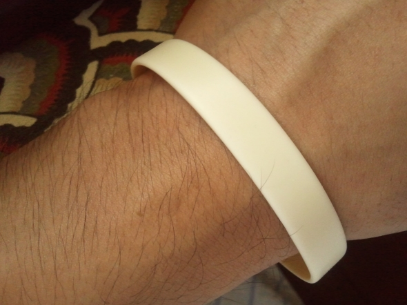 A wristband I got from the Red Cross, Benguet Chapter.
