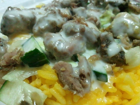Shawarma rice! Yum! Yum!