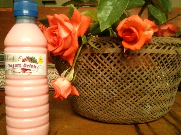 Strawberry yogurt drink from my gym.