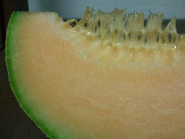 I sliced a melon and this is what I got. :)