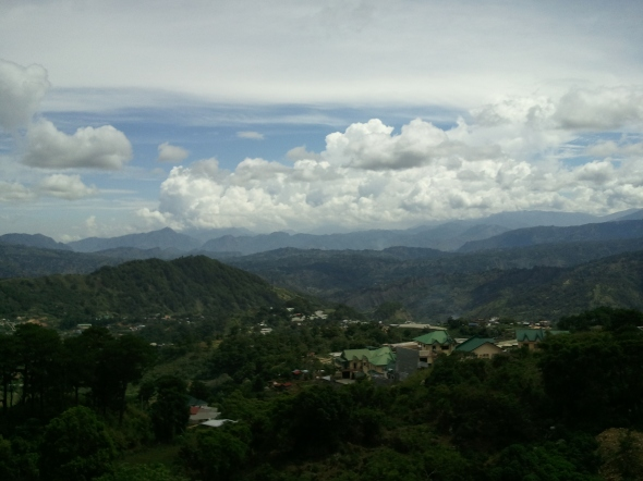 Majestic clouds. Somewhere in that valley is our house. :)