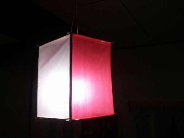 My first DIY pendant light.