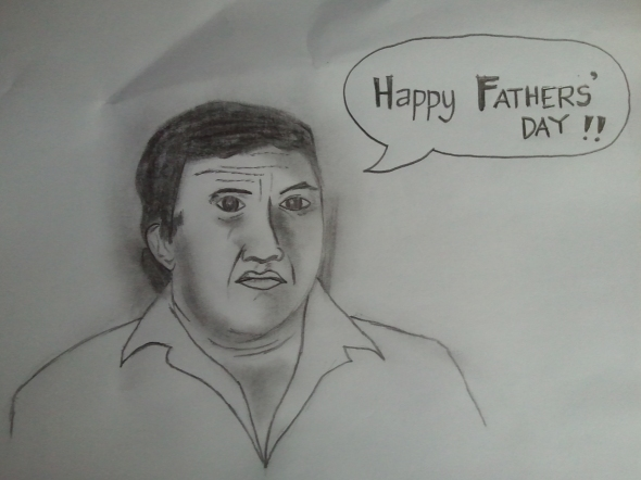 I drew a cartoon of my dad for Father's Day. Video link: http://www.youtube.com/watch?v=7_Ra6xCandM&feature=plcp