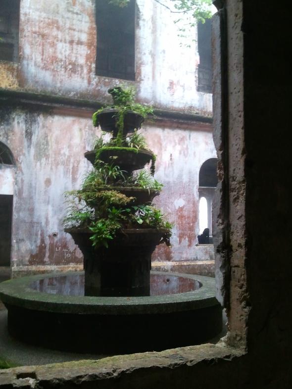 An abandoned fountain.