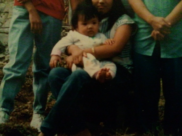 A shot of my baby photo.