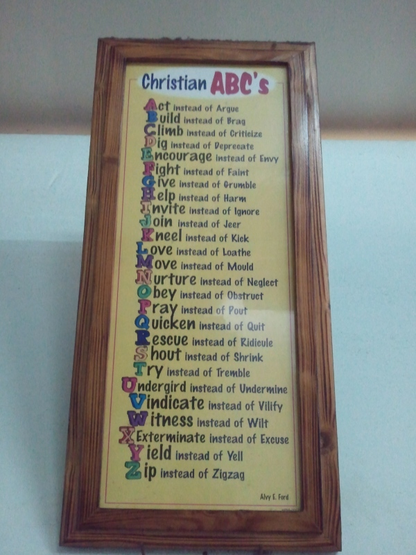 Christian ABC's [Click on the photo to enlarge.]